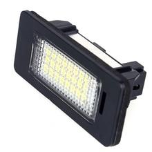 2Pcs 6000K Bright Xenon White Number License Plate Light SMD LED Lamps For BMW E39 E70 E71 X5 X6 E60 M5 E90 E92 E93 M3