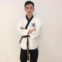 Prix de gros Taekwondo uniforme pour la Performance bleu, rouge, noir pantalon prix de gros Taekwondo costume