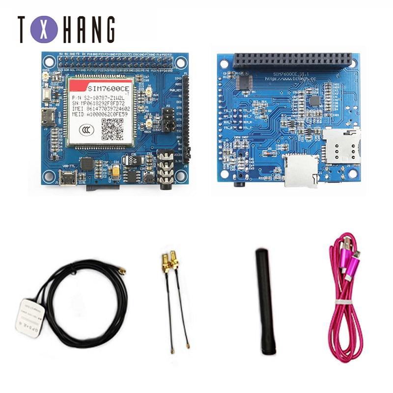 SIM7600CE 2G/3G/4G GNSS GPS Placa de extensión para Raspberry Pi 2B/3B 3B +