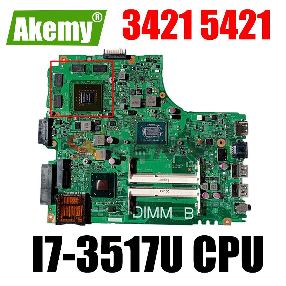 شحن مجاني ديل 3421 5421 اللوحة المحمول CN-04XFVJ 04XFVJ 4XFVJ SR0N6 I7-3517U DDR3L 100% العمل جيدا