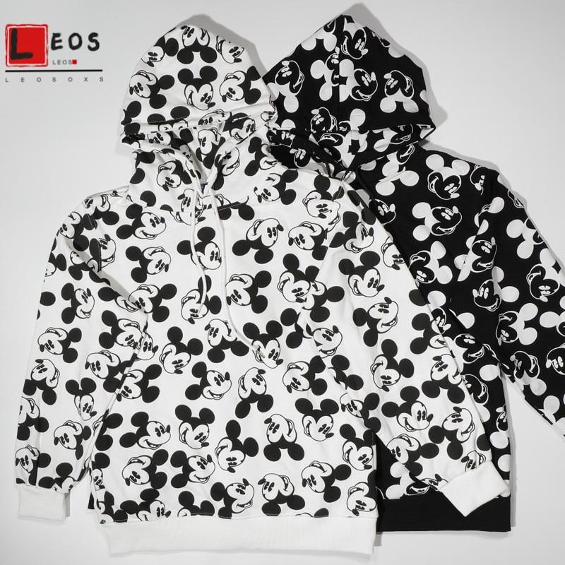 versize Mickey Hoodie Tops for Women and Men Sweatshirts Loose Thin Pullover Cartoon cute Collage Print Unisex  sweatshirts