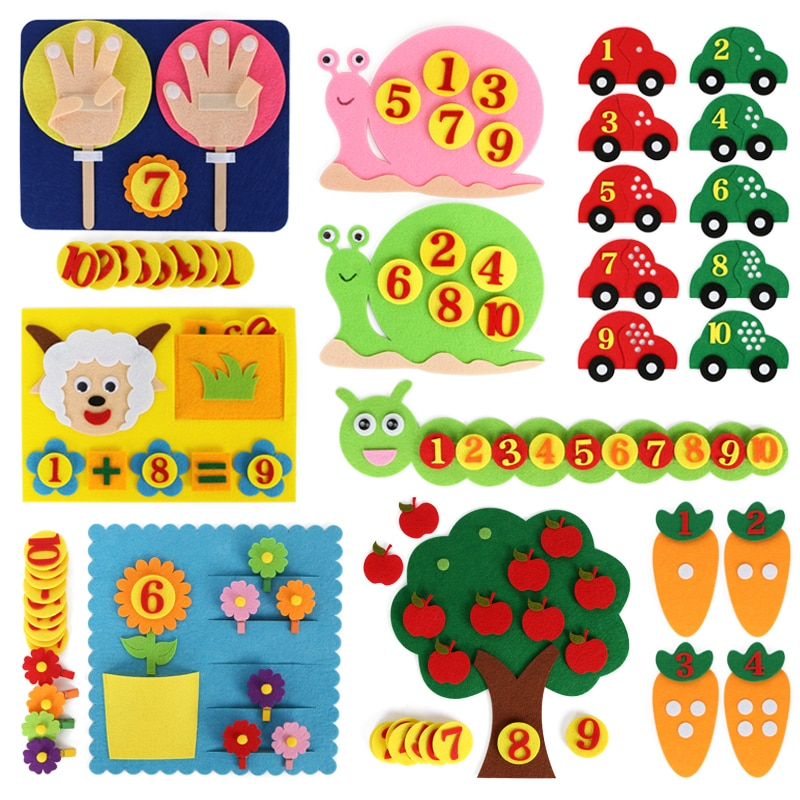 aliexpress.com - Montessori Math Toys Children Game Color Sorting Teaching Kindergarten Manual DIY Weave Cloth Early Learning Education Kids Toys
