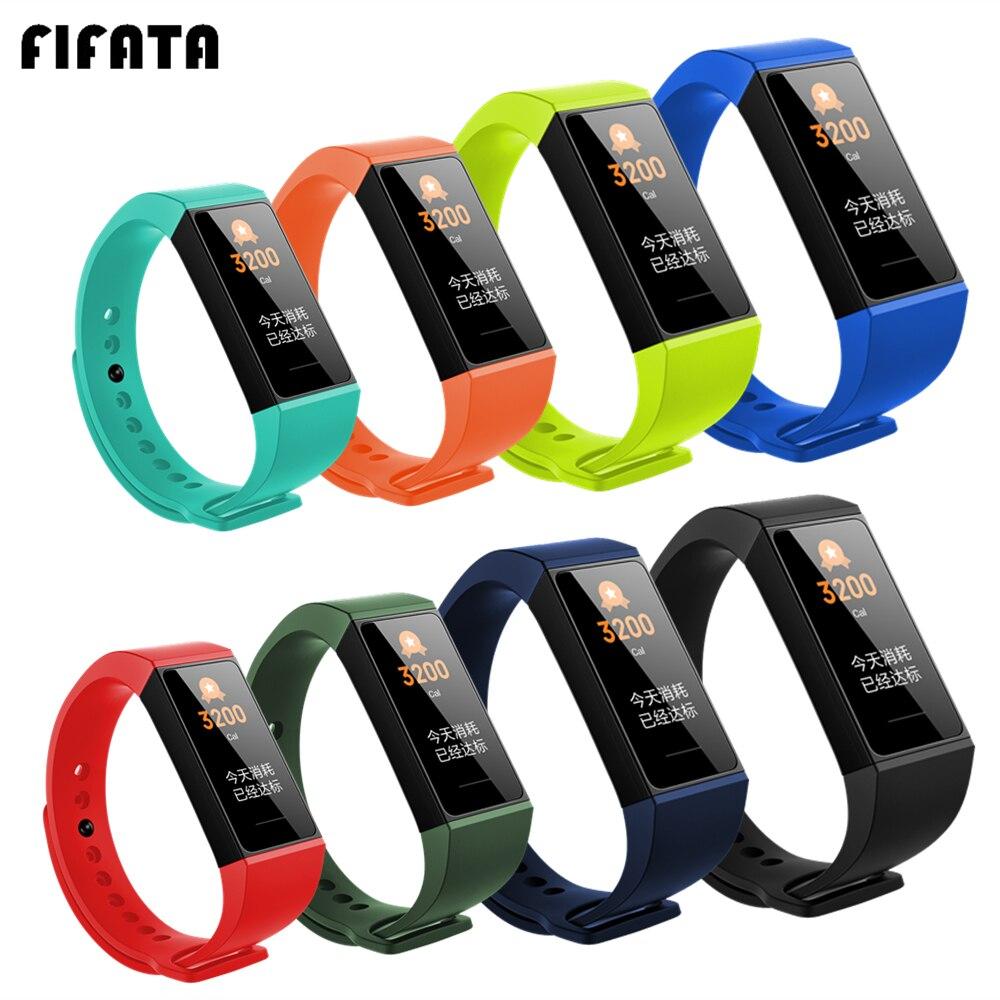 FIFATA For Xiaomi Redmi Band Silicone Wrist Strap For Redmi Smart Bracelet Colorful Watch Strap For