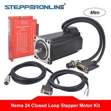 Nema Kits de moteur Stepper à boucle fermée   24 4Nm moteur Servo Nema24 5A + Servo Driver et 2 pièces câbles dextension