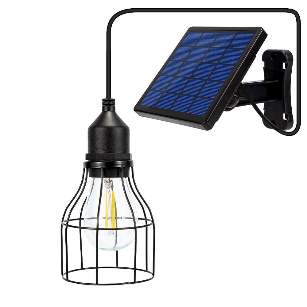 Солнечные подвесной светильник в стиле ретро лампа с 16Ft шнур солнечный наружная подвесная подсветка для патио украшения дома