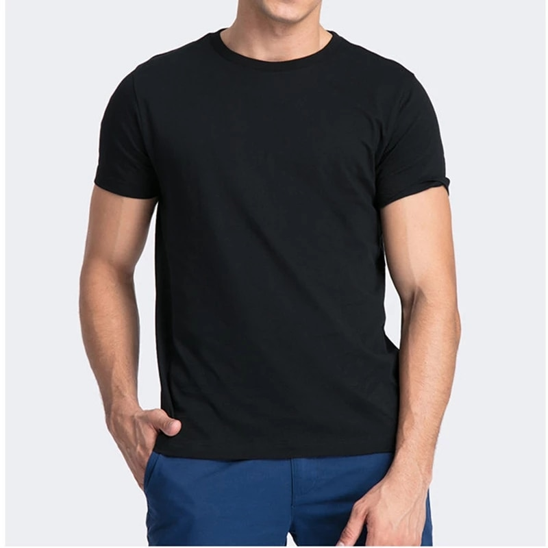 Camiseta de algodón 100% para hombre de camisa de manga corta de...