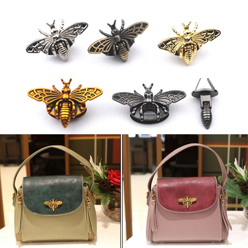 Металлическая защелка в форме пчелы в стиле ретро, модная фурнитура для сумок, кожаных сумок, сумочек, кошельков, аксессуары «сделай сам»