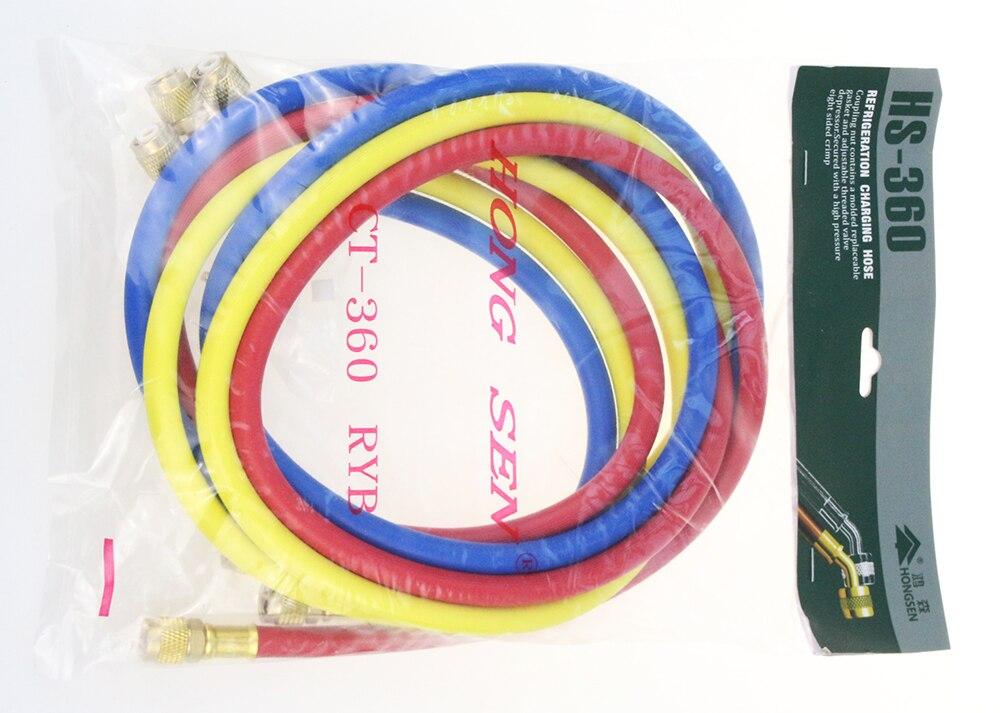 o Envio Gratuito de Alta Qualidade Condicionado Refrigerante Tubo Enchimento Mais Líquido Flúor Ct-360 R410 1.5m ar