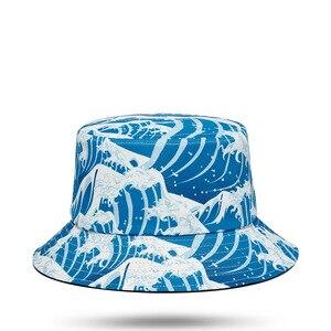 Sailing Brave Blue Tsunami Angry Sea Storm Breeze Ocean Roaring Waves Wave Street Fashion Fisherman Bucket Head Hat Hats Beanie