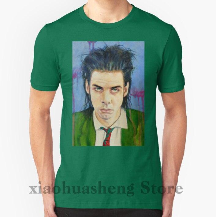 100% algodón cuello redondo hombres camiseta personalizada impresa camiseta Nick Cave mujer camiseta