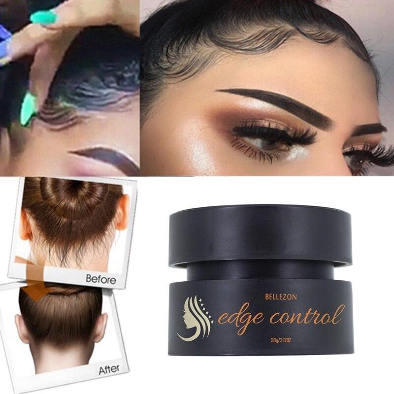 Anti-Frizz fijador de pelo refrescante aceite de cera crema borde Control roto pelo acabado de larga duración pelo estilo crema