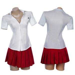 Japan Anime Danganronpa Akane Owari Cosplay Goodbye Desperate Academy School Uniform Girls Women White Shirt + Mini Skirt