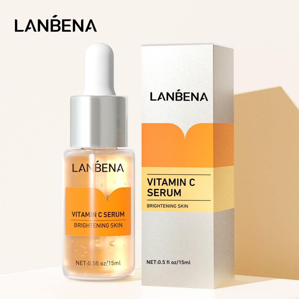 LANBENA Vitamin C Face Serum Whitening Hyaluronic Acid VC Facial Cream Moisturize Freckle Speckle Fade Remover Essence Skin Care недорого