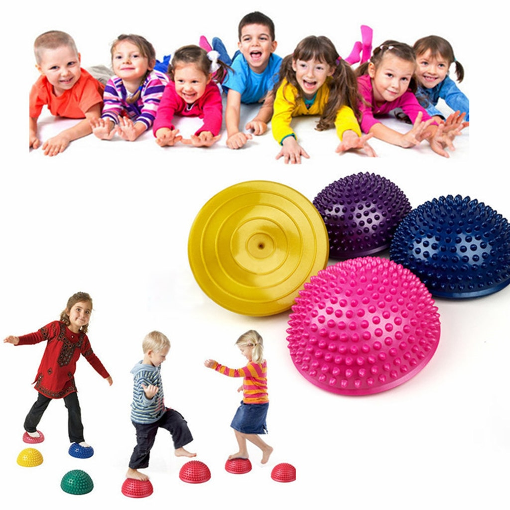 Equilibrio Therapys Domo Squat Yoga resistencia con Pilates Pull Ring Yoga Buttock Fitness hemisferio bola para niños adultos