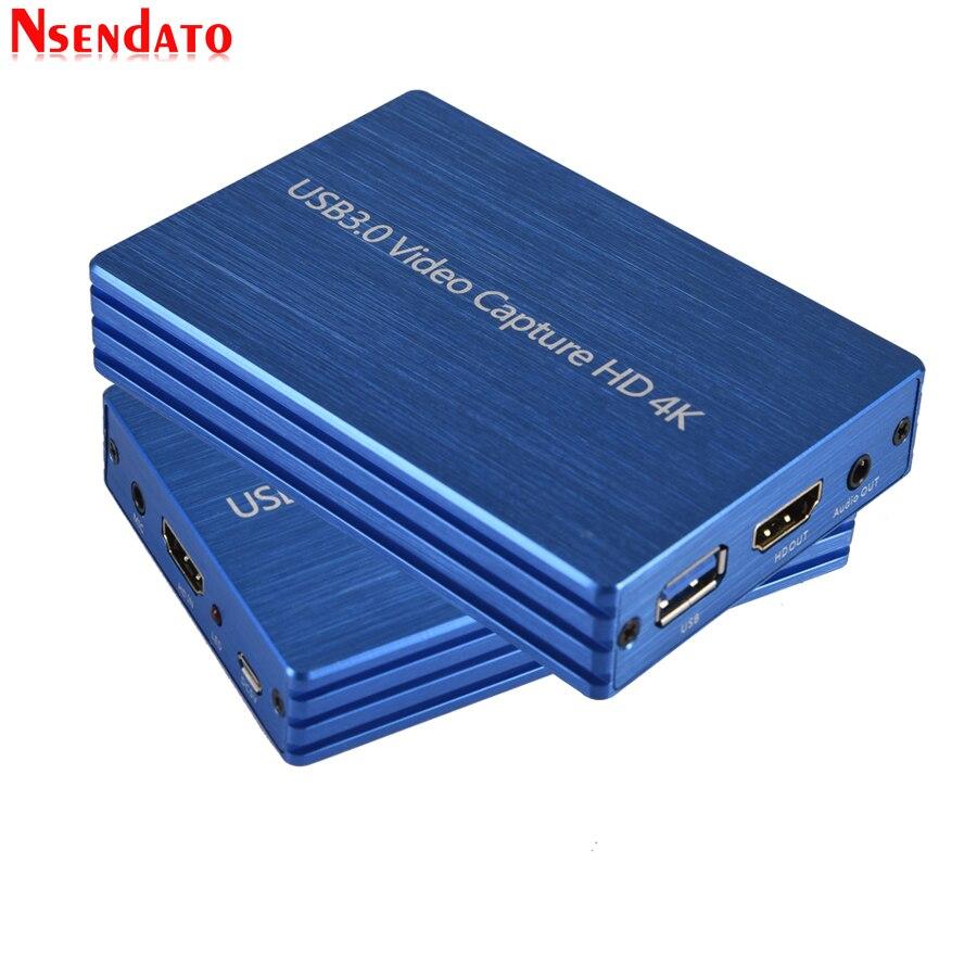 بطاقة التقاط الفيديو 4K HD إلى USB 3.0 ، دونجل 1080 بكسل ، 60 إطارًا في الثانية