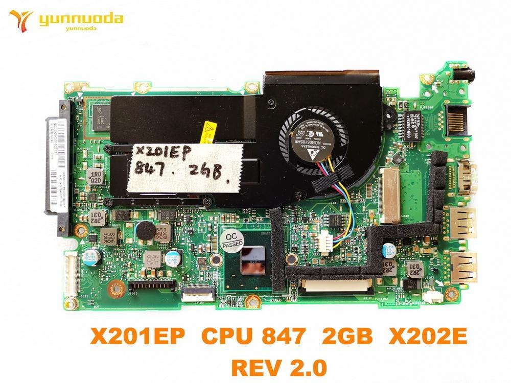 Original para ASUS X202E laptop placa base X201EP CPU 847 2GB X202E REV 2,0 probado buen envío gratis