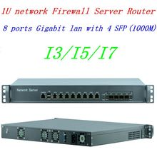 1U 방화벽 PC 라우터 I5 4430 프로세서 8 포트 기가비트 Lan 4 SFP 지원 ROS Mikrotik PFSense Panabit Wayos