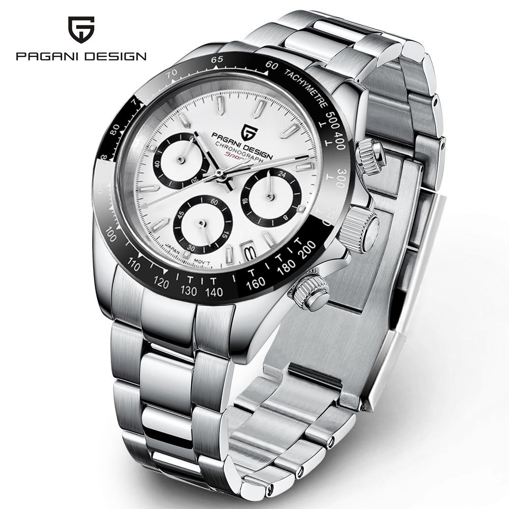 2021 New PAGANI Design Top Brand Men's Sports Quartz Watches Sapphire Stainless...