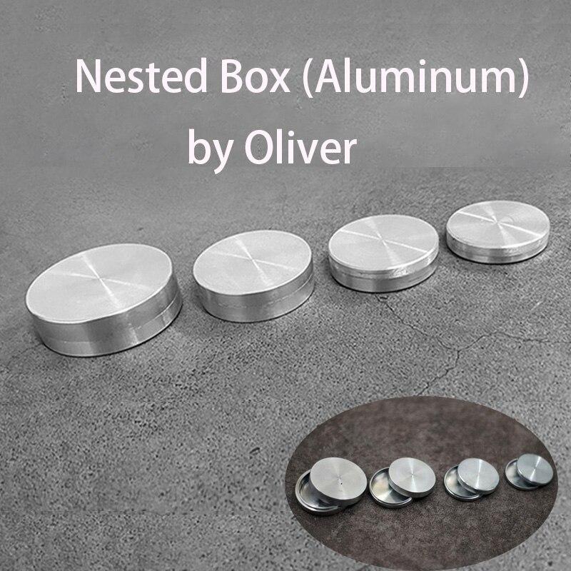 Caja anidada (aluminio) de figuras de Magia de Ker, moneda de trucos mágicos, accesorios para trucos de Magia, Magia, Magia
