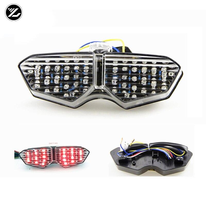 Piezas modificadas para motocicleta Yamaha YZF600 R6 03 - 04 - 05 luz trasera LED montaje de luz trasera de freno