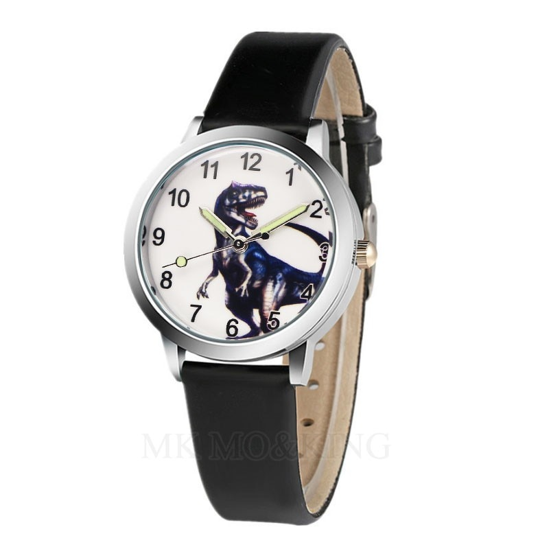 New Arrival High Quality Students Dinosaur Pattern Kids Girl Gift Watches Children Quartz Wristwatch