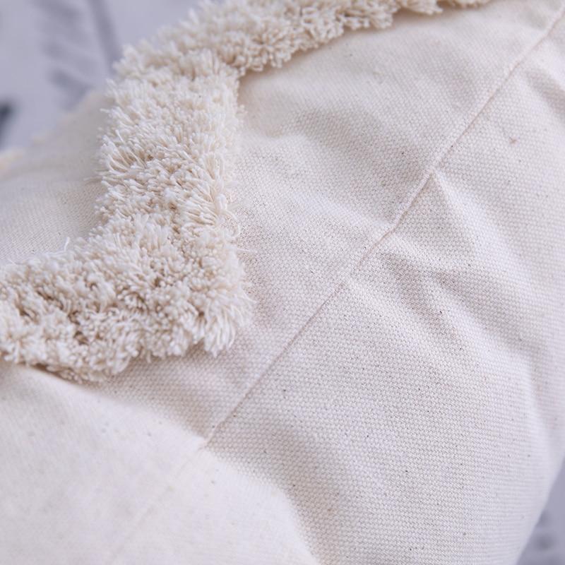 Купить с кэшбэком Bohemian tassel cushion cover 45x 45cm / 30x50cm beige square pillowcase handmade home decoration living room bedroom decoration
