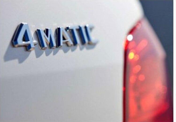 Para Mercedes emblema trasero calcomanía insignia 4 pegatina Matic A 220 817 08 15 calidad AAA coche 4 Matic
