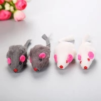 hokerbat pet cat toy fur mouse short haired real hair mouse with ringstone cat toy pet