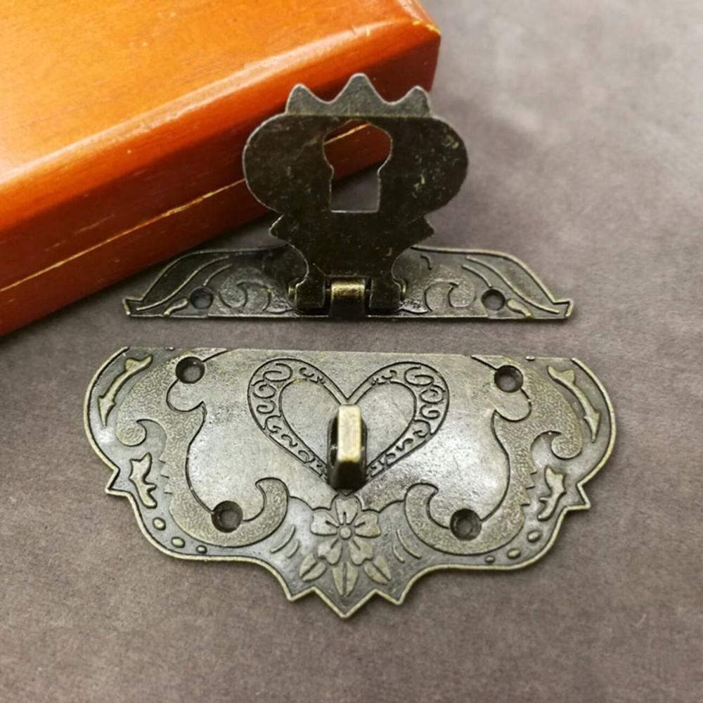Caja de Elm, antigua hebilla de bloqueo, hebilla de caja, muebles vintage retro, pieza de bloqueo, cerradura de bronce, candado antiguo de estilo chino
