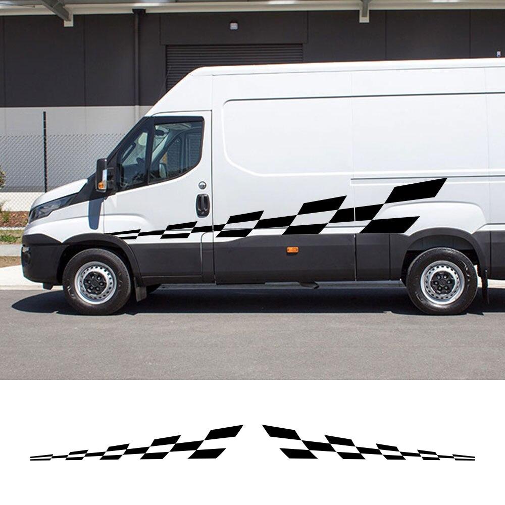 2PCS Car Door Side Stickers For IVECO DAILY Van Camper Motorhome Caravan Graphics Decals Conversion Accessories