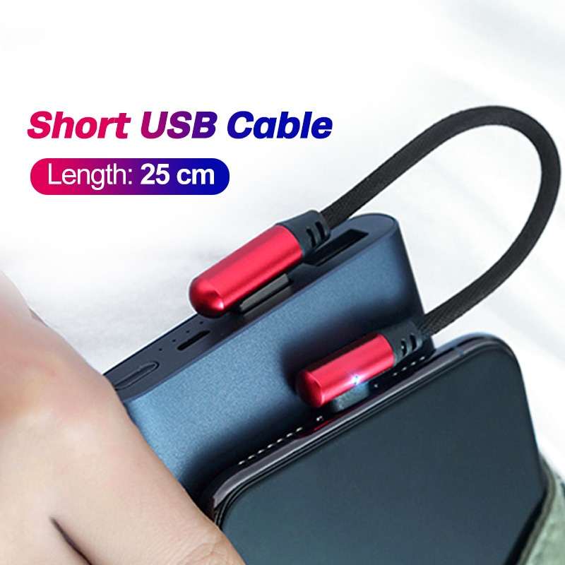 AliExpress - FONKEN 25cm Type C USB Cable Power bank Portable Charging Micro USB Cable Usbc Short USB Charger Smartphone Tablet Data Wire