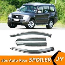 For Mitsubishi Pajero 2008-2011 Window Visor Vent Shades Sun Rain Deflector Guard For Pajero Auto Accessories 4PCS/SET