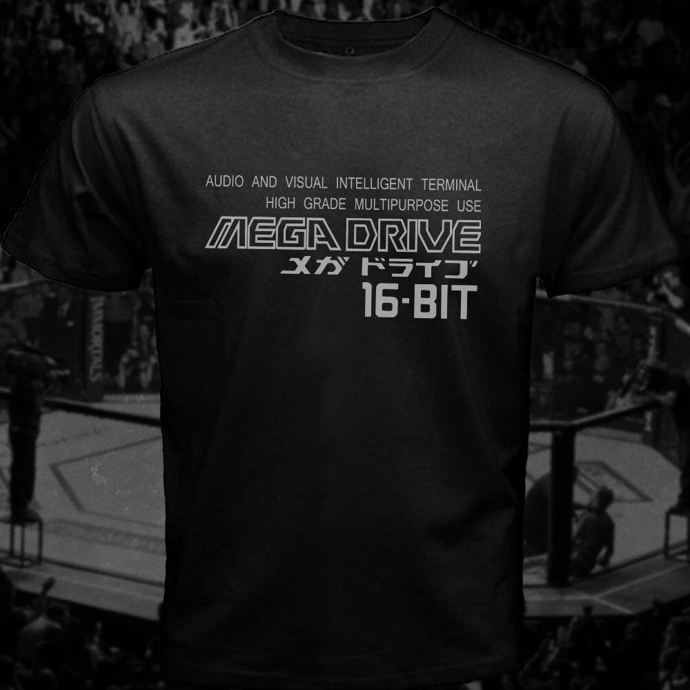Mega Drive camiseta Vertical Logo japonés homenaje Retro juego de camiseta