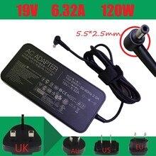 19V 6.32A 120w chargeur dordinateur portable adaptateur secteur pour asus G73 G71 UX501 GL751 K73 K53 pour ordinateur portable acer  hp  toshiba