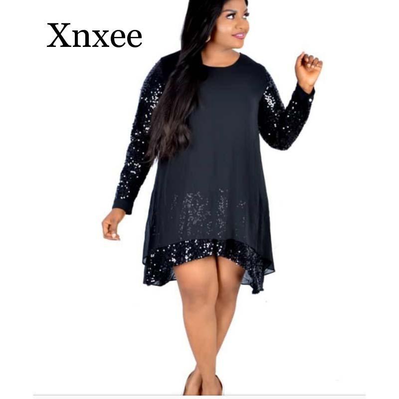 Африканская одежда, свободное Сетчатое платье с блестками, женское элегантное однотонное платье до колена с круглым вырезом, летнее платье ... gold case платье до колена
