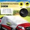 Universal Auto Abdeckung Windschutzscheibe Spiegel Reflektierende Bar Sonne Schatten Eis Heißer Regen Staub Frost Schutz Aluminium Film Sun Shelter