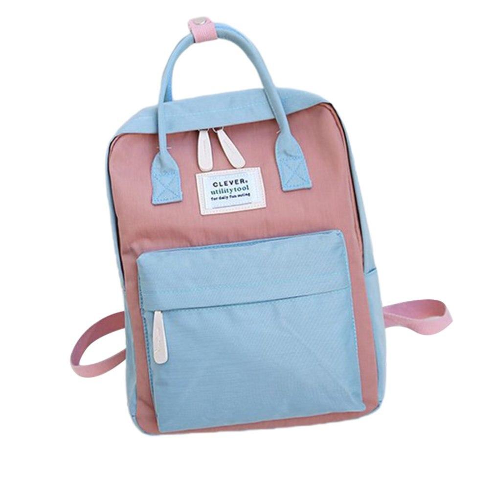 Mochila feminina impermeável de lona, mochila feminina impermeável feita em lona com design coreano, ideal para transportar laptops e uso escolar
