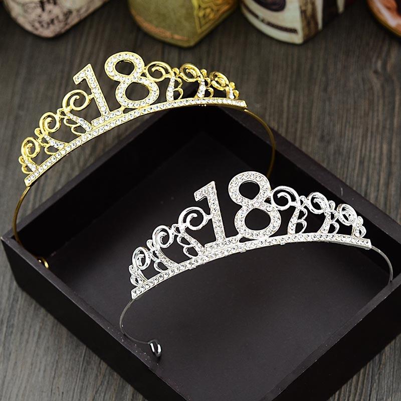Getnoivas barroco 18 anos de idade coroa festa tiara headpiece cabeça jóias festa de aniversário diadem ouro acessórios para o cabelo sl