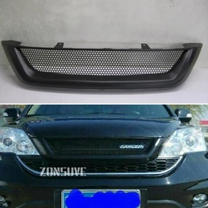 Use For Honda CRV 2010--2011 Carbon Fibre Refitt Front Center Racing Grille Cover Accessorie Body Kit Zonsuve