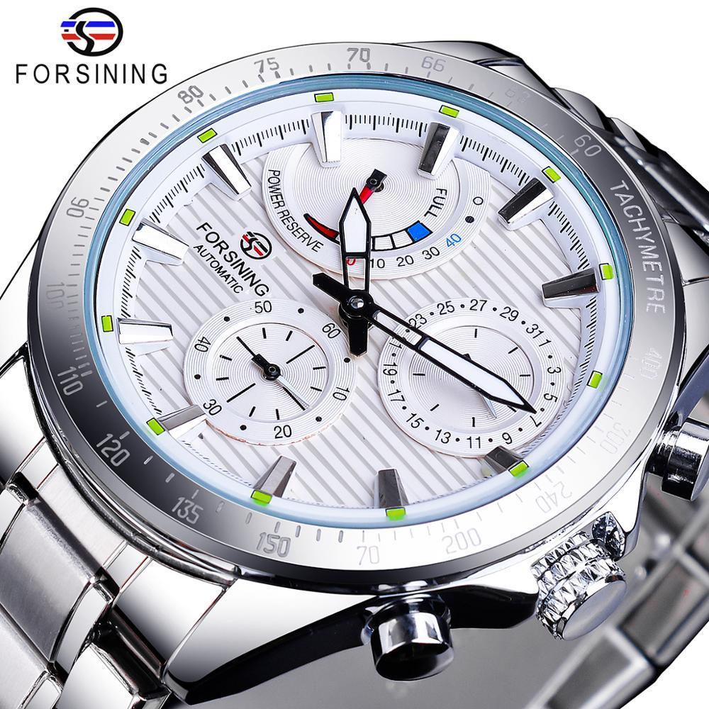 Forsining-ساعة يد ميكانيكية فاخرة من الفولاذ المقاوم للصدأ ، 2020 ، مصممة ، عسكرية ، أفضل العلامات التجارية