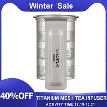 Titanium Mesh Thee-ei Mand Voor Thee Cup Theezeefje Theepot Leaf Spice Filter Drinkware Keuken Accessoires Herbruikbare