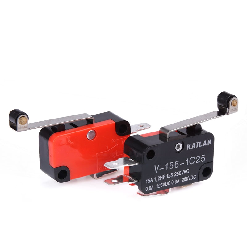 1PCS V-156-1C25 15A The micro switch, Push Button SPDT Momentary Snap Action Limit switch, travel switch chint travel switch yblx jw2 11z 3 limit switch