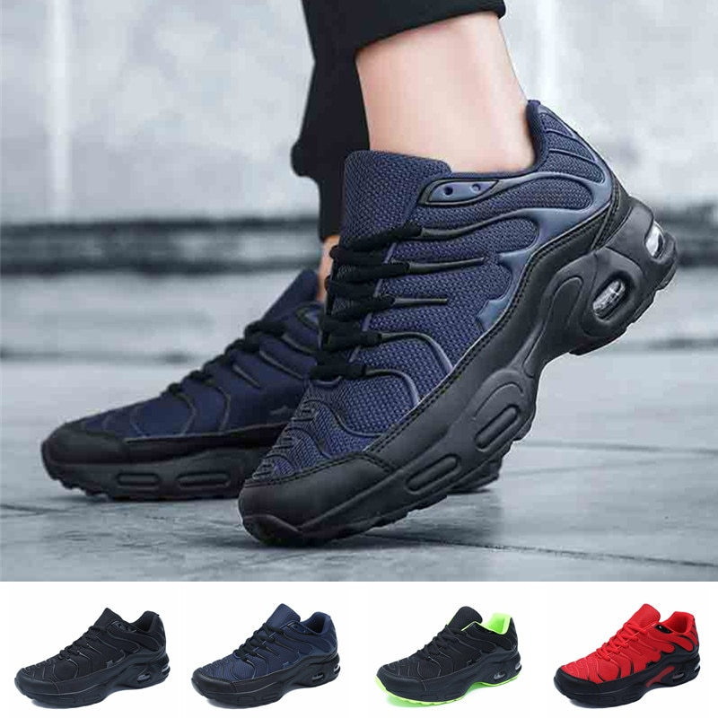 Fashion Sneakers Air Cushion Male Lace-Up Casual Running Shoes Increasing Height Walking Shoe Anti-slip Size 39-47