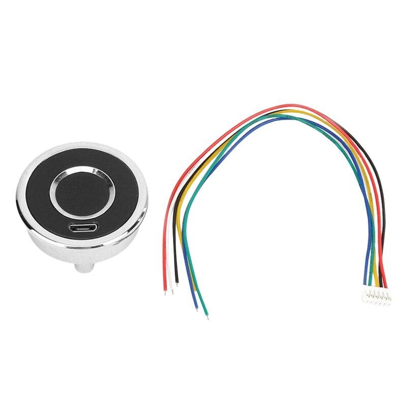 Módulo Lector de huellas dactilares, módulo de huella digital capacitivo redondo, Control de acceso, dispositivo de reconocimiento, escáner