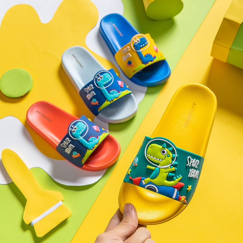 2021 New Cute Kids Shoes Dinosaur Fruit Duck Car Baby Slippers Children Slippers Boys Girls Shoes To