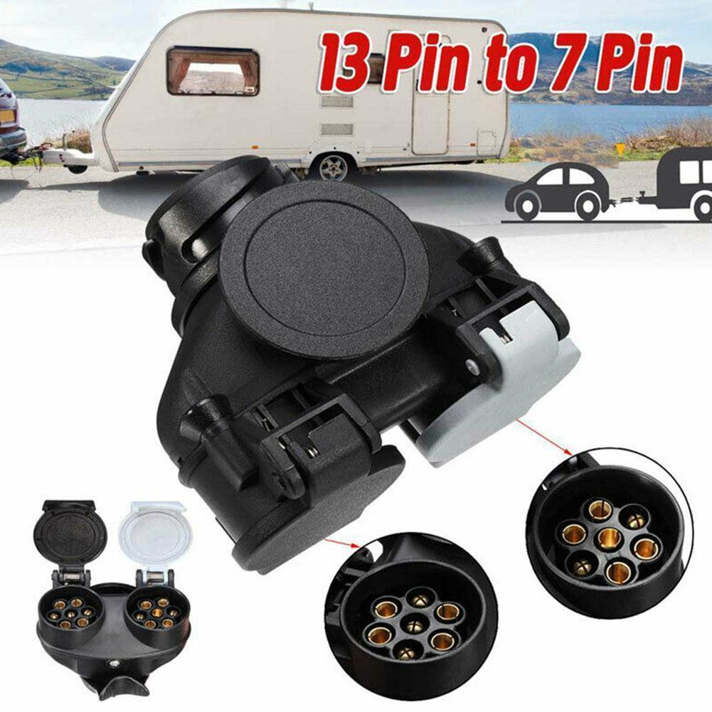 New Conversion Adaptor Without Cable 13Pin To 7Pin Trailer Caravan Light Board Extension Towing Plug Socket Adaptor