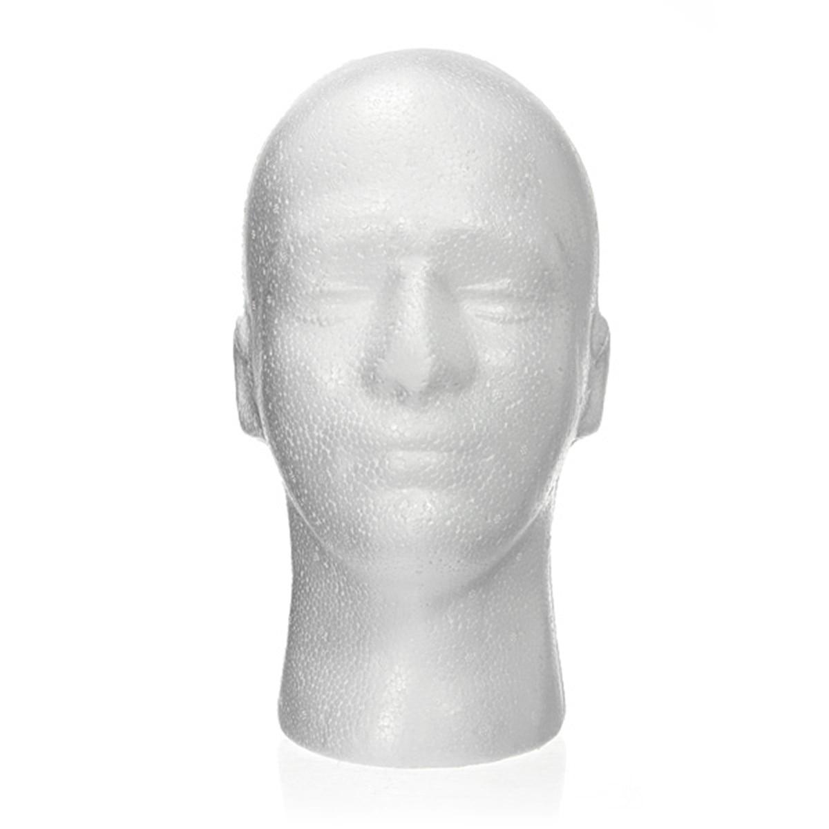 5 unids/set de maniquí masculino de espuma de poliestireno cabeza de maniquí profesional modelo de soporte de peluca gafas sombrero diadema soporte de exhibición