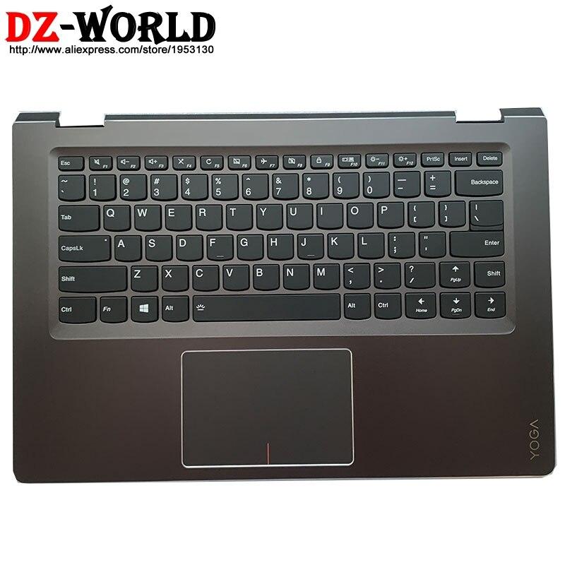 Novo escudo palmrest capa superior com eua inglês teclado touchpad para lenovo yoga 510-14ikb isk ast flex 4-1470 portátil 5cb0l66081