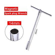 14mm/16mm Spark Plug Socket Wrench With Shrapnel Chrome Vanadium Steel Inner Arc-angle Three-stage Spark Plug Removal Tool