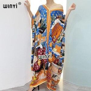 2021 Europe Printed caftan Women crumple Design Loose boho traf robe Maxi Long Femme Vestidos Summer Autumn Party Elegant Dress